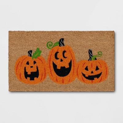 "1'2""x2'2"" Jack-O-Lantern Halloween Doormat Orange - Threshold™"