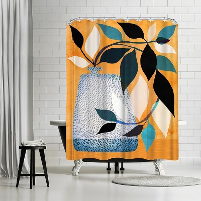 """Americanflat Ivy In The Courtyard by Modern Tropical 71"""" x 74"""" Shower Curtain"""