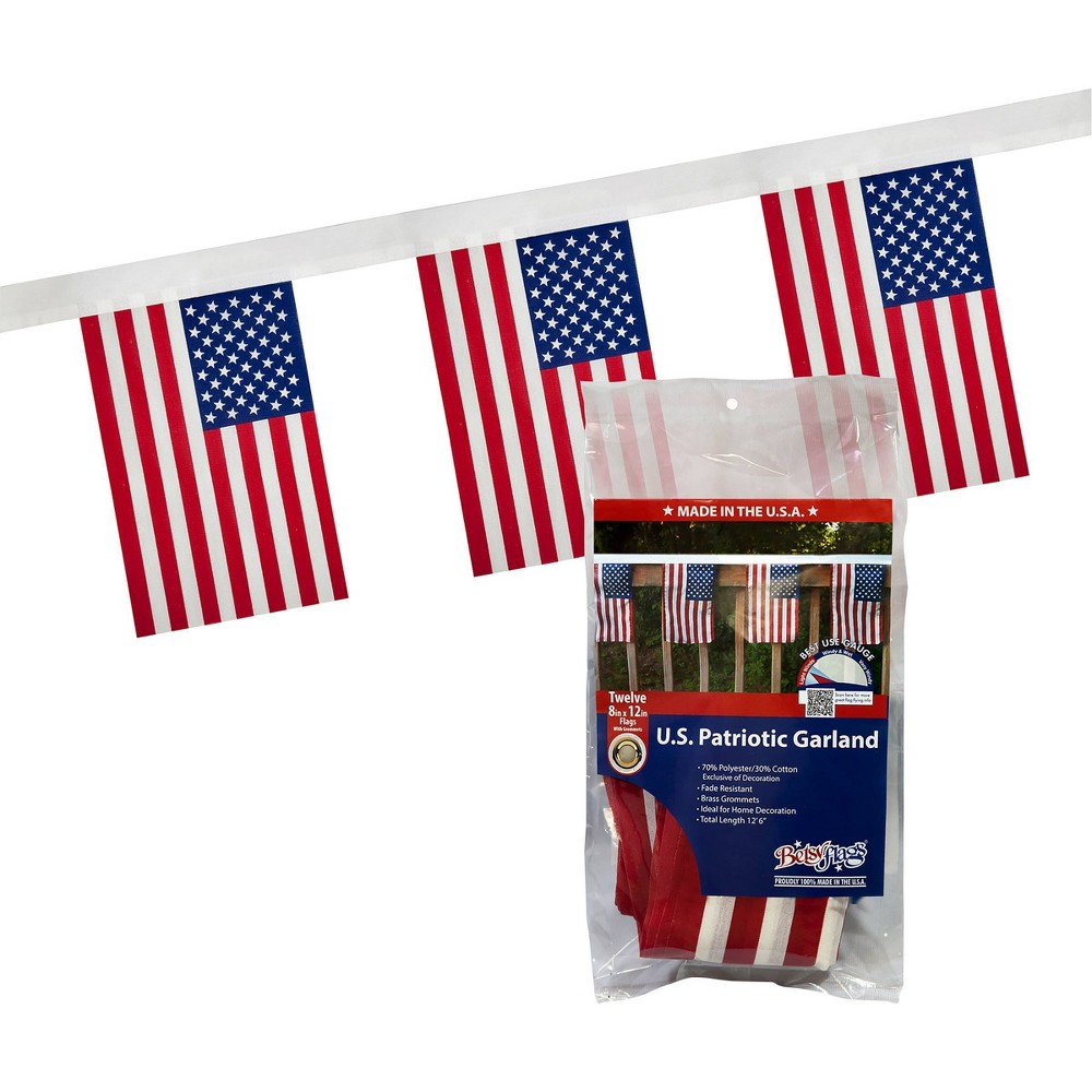 Image of Polycotton Garland Flag, banners and garlands