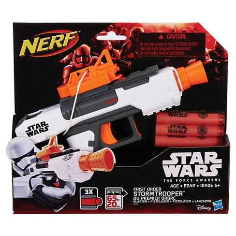 star wars nerf episode vii first order stormtrooper blaster target