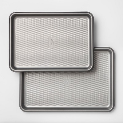 Aluminized Steel Non-Stick Cookie Sheet Set of 2 Silver - Made By Design™