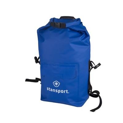 Stansport Waterproof Backpack Dry Bag With Shoulder Straps 30L Blue