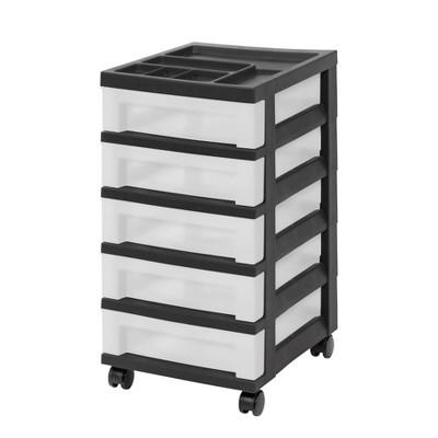 IRIS 5 Drawer Storage Cart with Organizer Top
