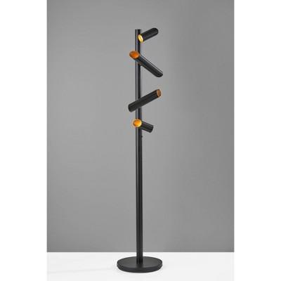 Tyler Floor Lamp (Includes LED Light Bulb) Black - Adesso