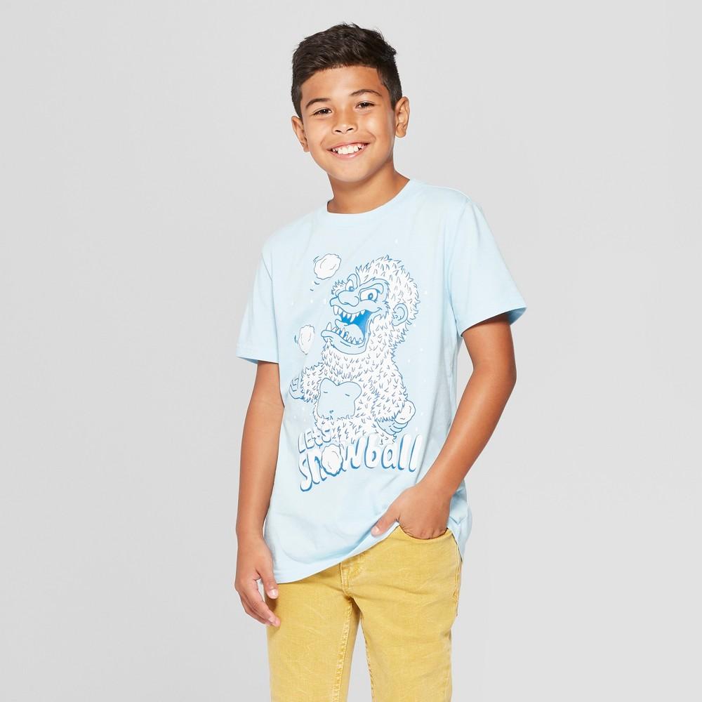 Boys' Yeti Short Sleeve Graphic T-Shirt - Cat & Jack Blue Xxl