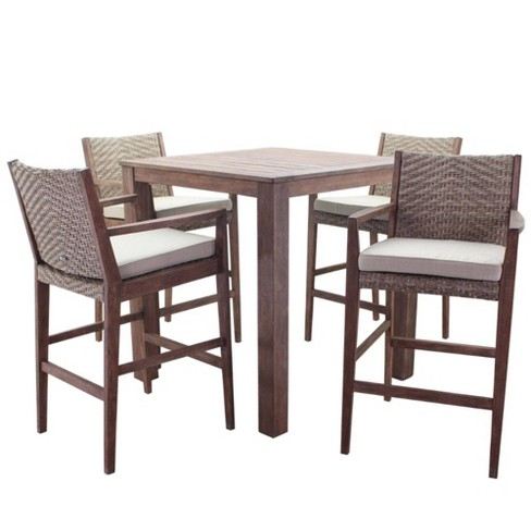 """Buena Vista 5pc 39"""" Square Bar Height Set - Taupe Courtyard Casual - image 1 of 4"""