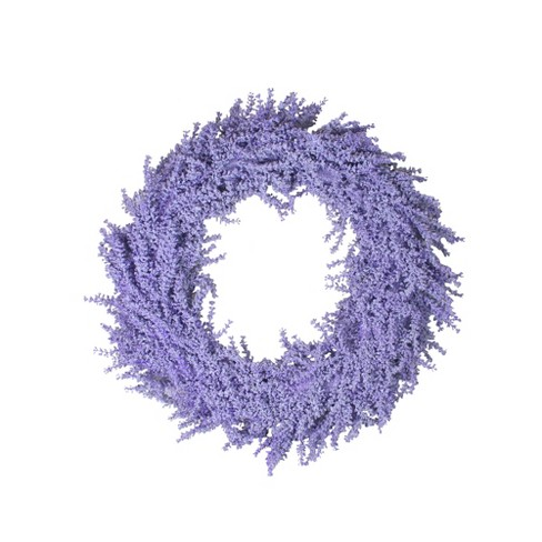 """Northlight 26"""" Unlit Christmas Purple Artificial Wisteria Inspired Flower Christmas Wreath - image 1 of 2"""