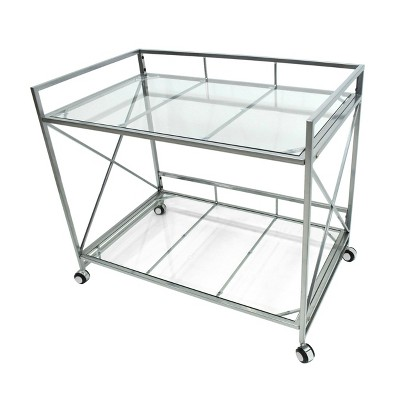 Ignatius Industrial Modern Bar Cart Silver - Christopher Knight Home