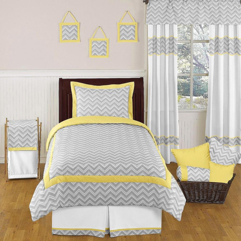 JoJo Designs Zig Zag Chevron Bedding Set - Yellow/Gray (F...