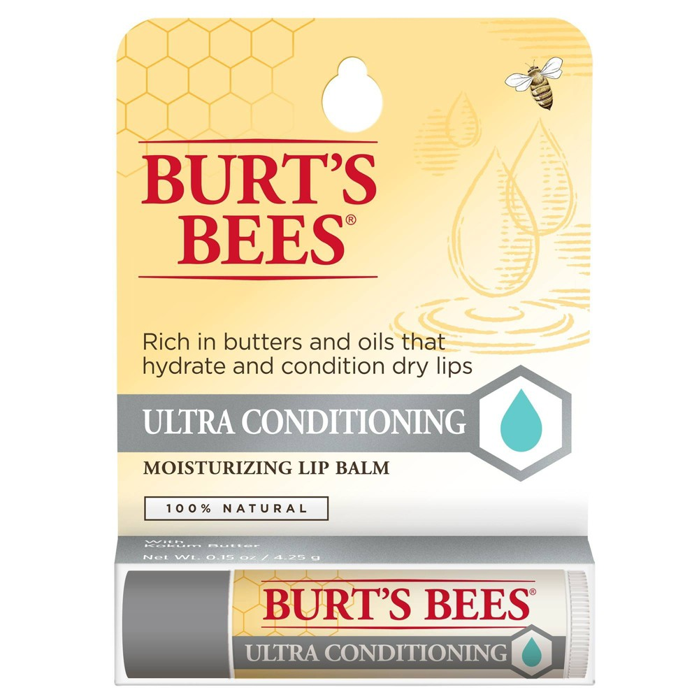 Image of Burt's Bees Ultra Conditioning Moisturizing Lip Balm - 0.15oz