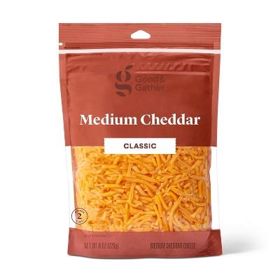 Shredded Medium Cheddar Cheese - 8oz - Good & Gather™