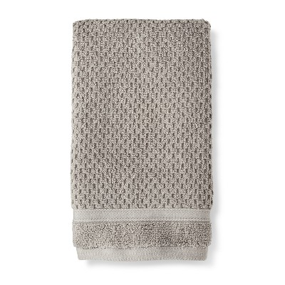 Hand Towel Performance Texture Bath Towels And Washcloths Classic Gray - Threshold™