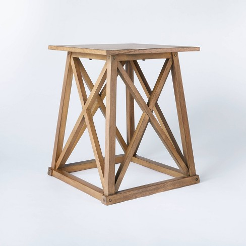 Copperton Wood X Base Accent Table - Threshold™ designed with Studio McGee - image 1 of 4