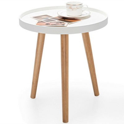 Costway Round Side Table Sofa Coffee End Accent Table Nightstand Home Furniture