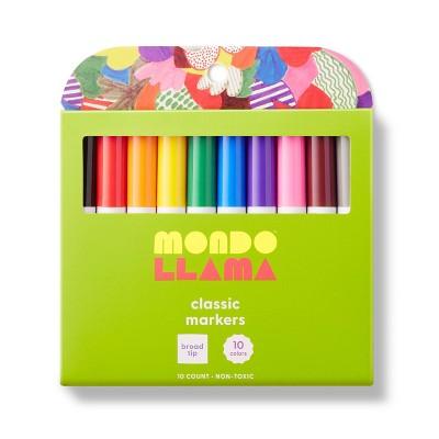 10ct Markers Broad Tip Classic Colors - Mondo Llama™