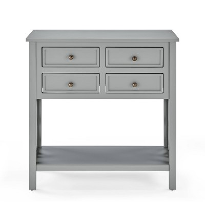 "32"" Middlebury Wood Console Table with 4 Drawers Gray - Alaterre Furniture"