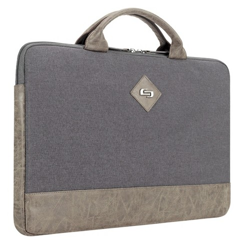 "Solo Pilot 15.6"" Slim Messenger Bag - Grey/Tan - image 1 of 7"