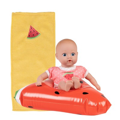 Adora Water Baby Doll, SplashTime Baby Tot Fresh Watermelon, 8.5 inch Baby Doll for Water Play. Quick Dry & Machine Washable. Perfect Bath Toys for 3 Year Old and Over