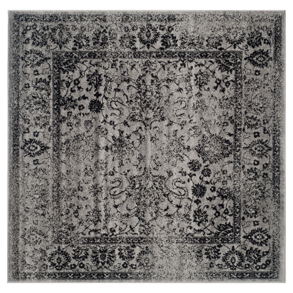Reid Accent Rug - Gray/Black (4'x4') - Safavieh