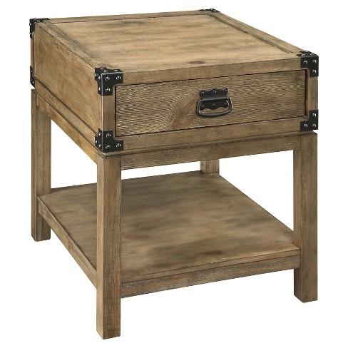 Trunk End Table Wood Treasure Trove