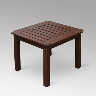 Sopra Wood Patio Side Table - Cambridge Casual
