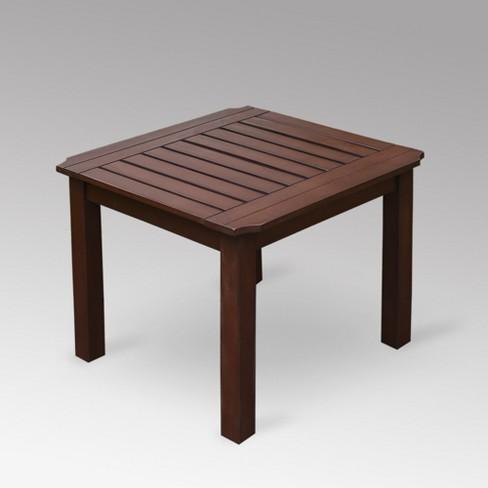 Sopra Wood Patio Side Table - Cambridge Casual - image 1 of 4
