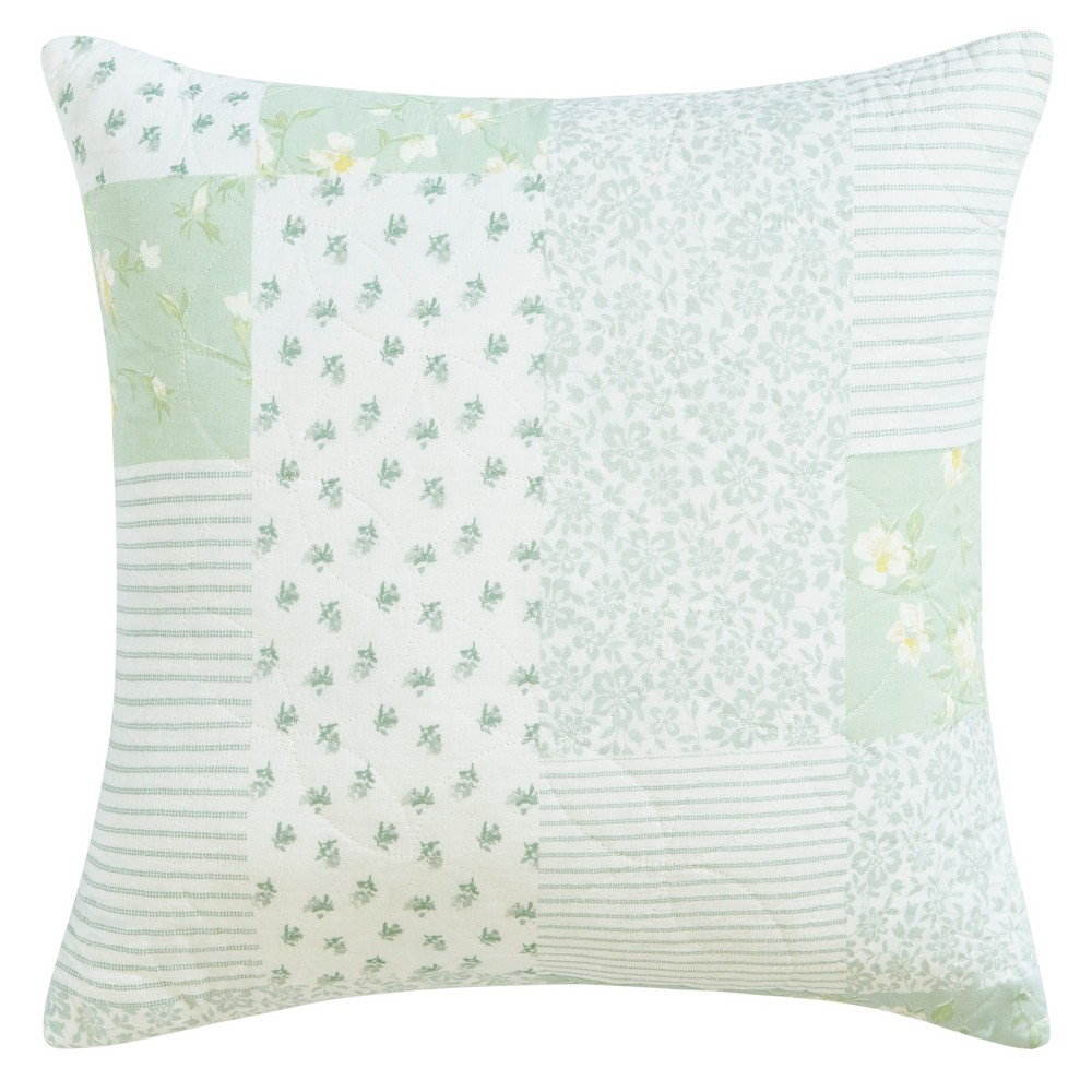 Rowen Throw Pillow Green - Laura Ashley