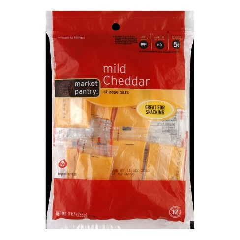 Mild Cheddar Cheese Bars - 12ct - Market Pantry™ - image 1 of 1