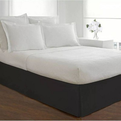 Luxury Hotel Twin Extra Long Classic Tailored Bed Skirt Black