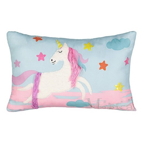 """12""""x18"""" Over the Rainbow Throw Pillow Pink - Spree By Waverly - image 1 of 4"""