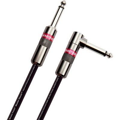 Monster Cable Prolink Classic Pro Audio Instrument Cable Right Angle to Straight