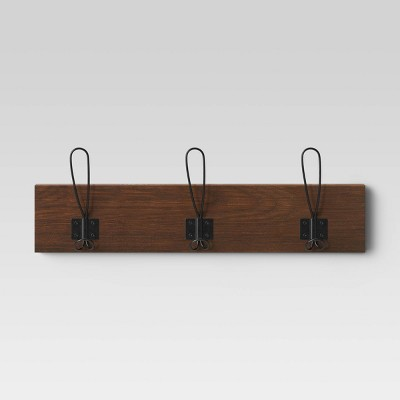 3pc Wall Hook Brown - Threshold™
