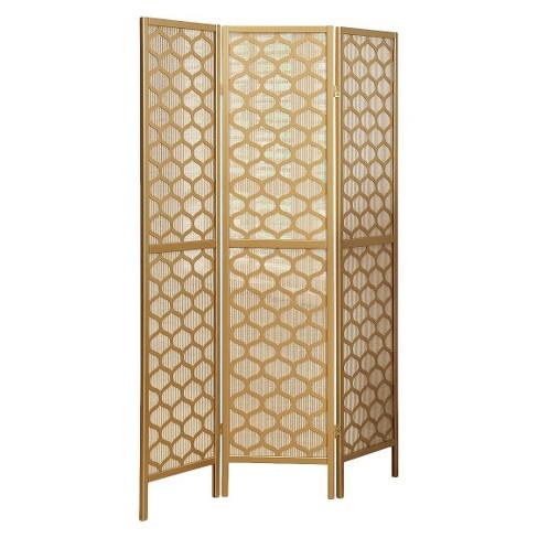 Three Panel Frame Screen Gold Everyroom Target
