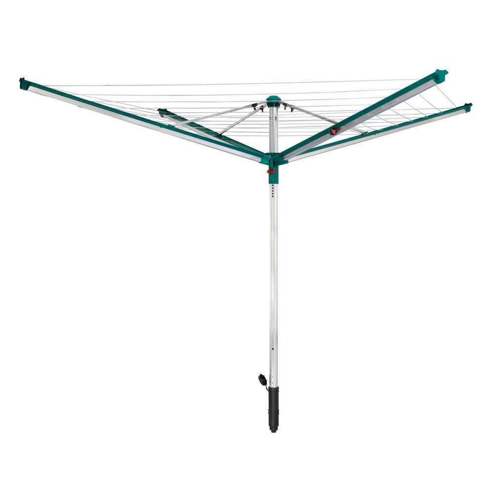 Image of Leifheit Linomatic 500 Deluxe Umbrella Clothesline, Green