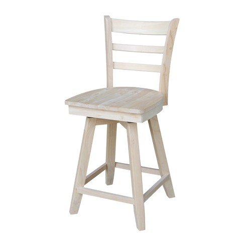 Emily Stool with Swivel and Auto Return Unfinished - International Concept - image 1 of 4