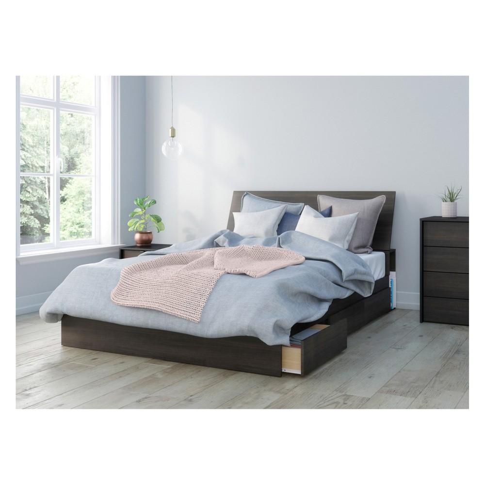 Image of 3pc Celeste Bedroom Set Queen Black - Nexera