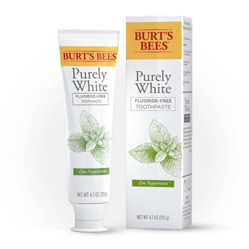 Burt's Bees Purely White Fluoride-Free Natural Toothpaste Zen Peppermint - 4.7oz - image 1 of 4