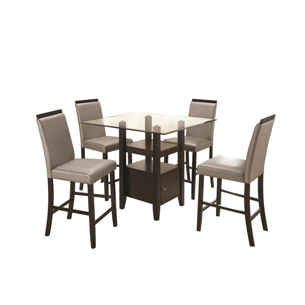 Image of 5pc Cerise Dining Set - Brown - Home Source Industries