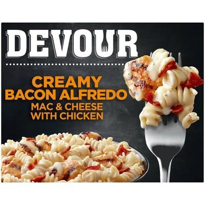 Devour Frozen Creamy Bacon Alfredo Mac & Cheese with Chicken - 10oz
