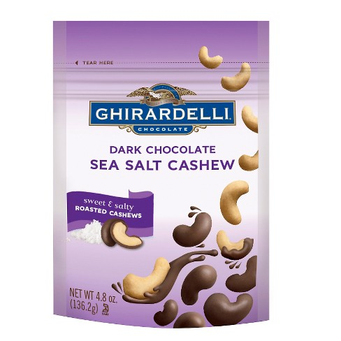 Ghirardelli Dark Chocolate Sea Salt Cashews - 4.8oz - image 1 of 1