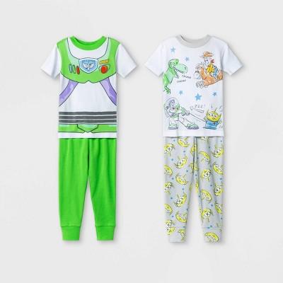 Toddler Boys' 4pc Toy Story Pajama Set - White
