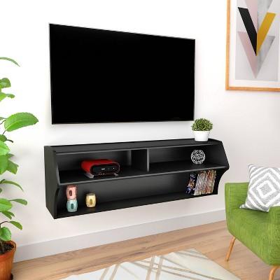 Altus Wall Mounted Audio/Video Console Black - Prepac