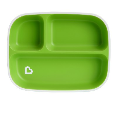 Munchkin Splash Divided Plate - Green