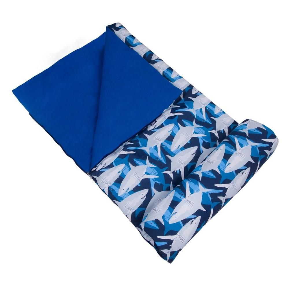 Wildkin Sharks Original 60 Degrees Fahrenheit Sleeping Bag