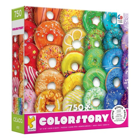 Ceaco Rainbow Donuts Color Story Jigsaw Puzzle - 750pc - image 1 of 3