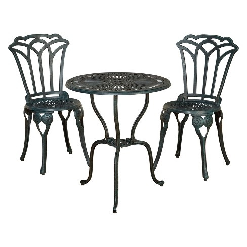 3pc Jade Bistro Set - Antique Green - Buylateral - image 1 of 4