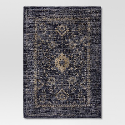 Indigo Vintage Distressed Area Rug (7'X10')- Threshold™