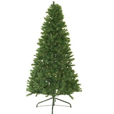 Darice 6' Prelit Artificial Christmas Tree Canadian Pine - Clear Lights