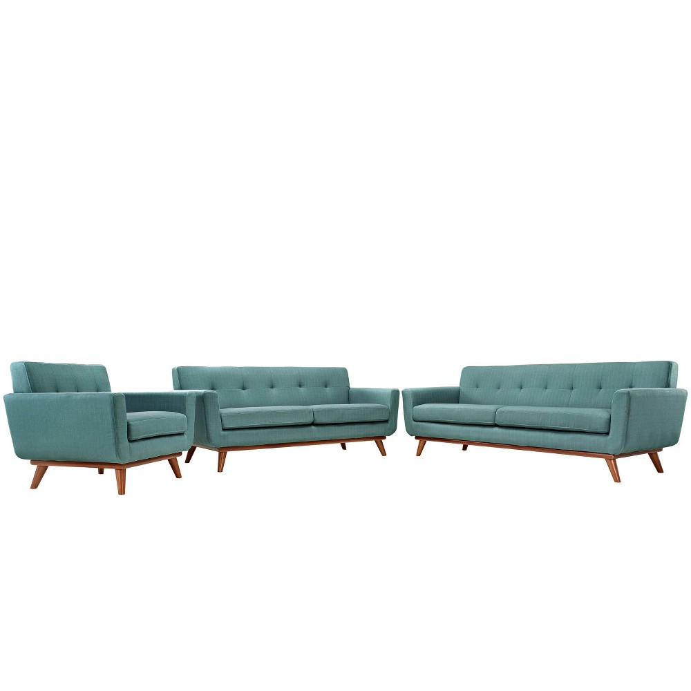 Engage Sofa Loveseat and Armchair Set of 3 Laguna - Modway