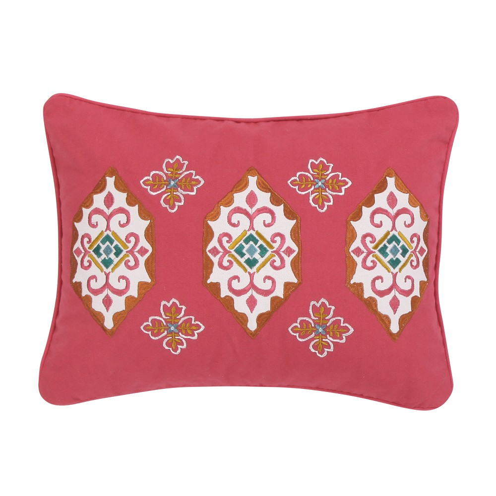 Image of 14x18 Saskia Medallion Pillow Coral - Mudhut
